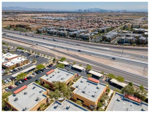 Commercial real estate drone photography in Las Vegas.